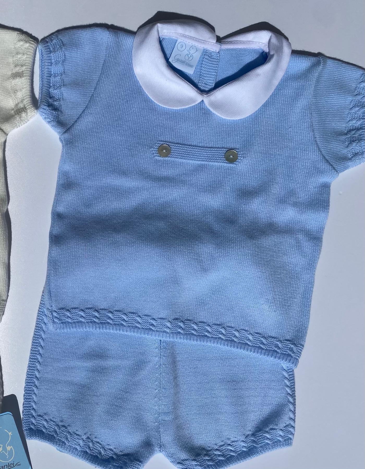 Granlei Peterpan Collar Set Blue