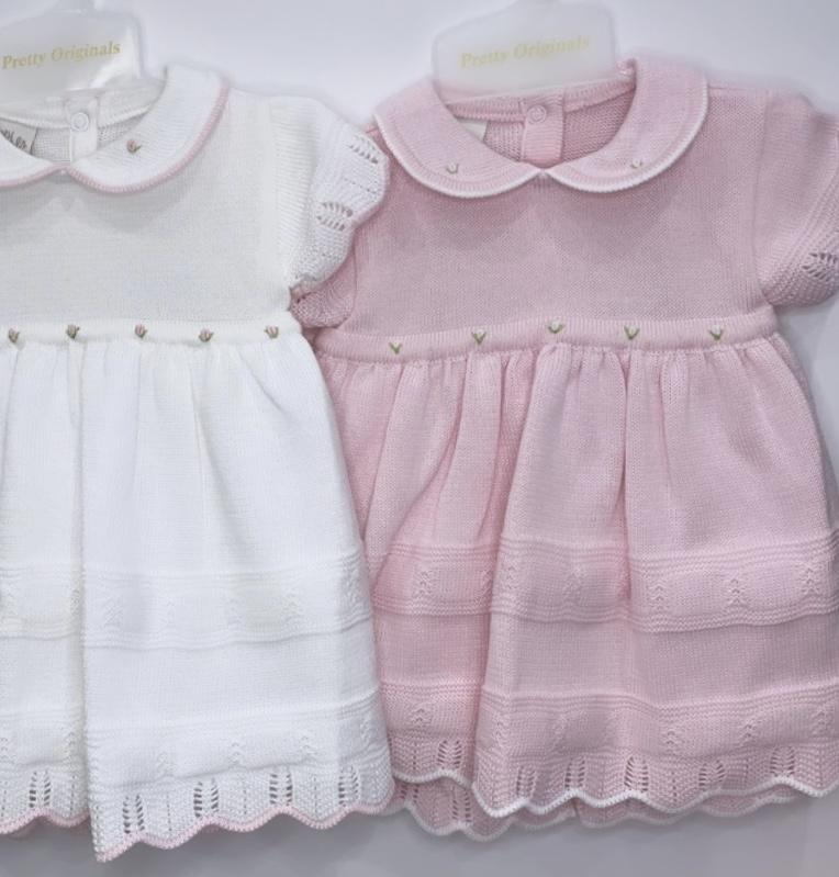 Pretty Originals Knit Dress & Bloomers Pink