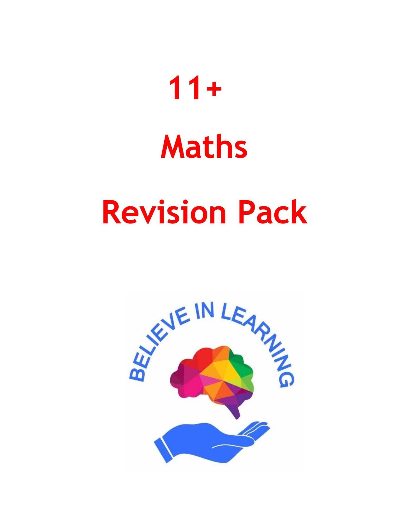11+ Maths Revision Pack
