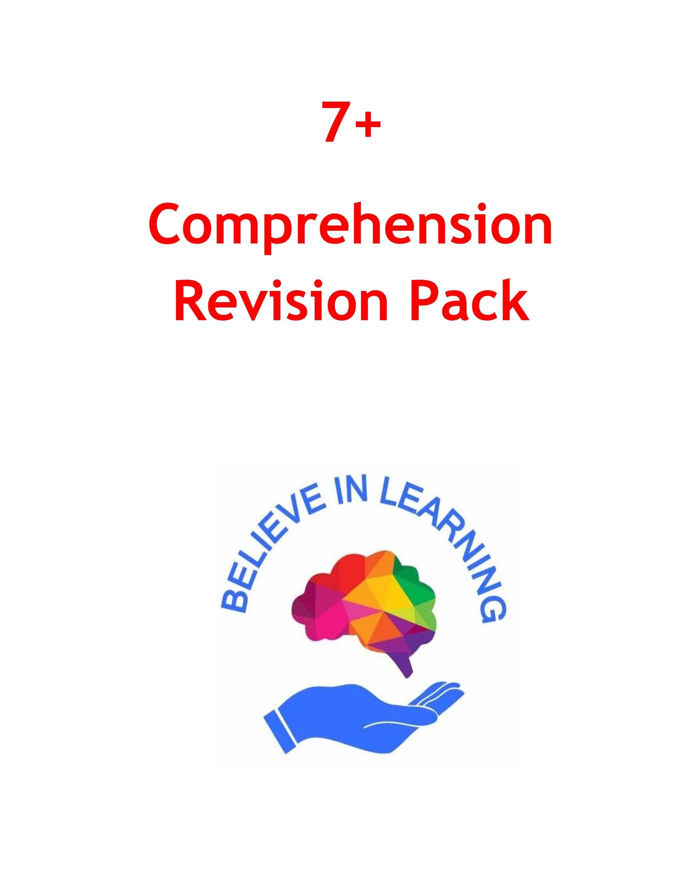 7+ Comprehension Revision Pack