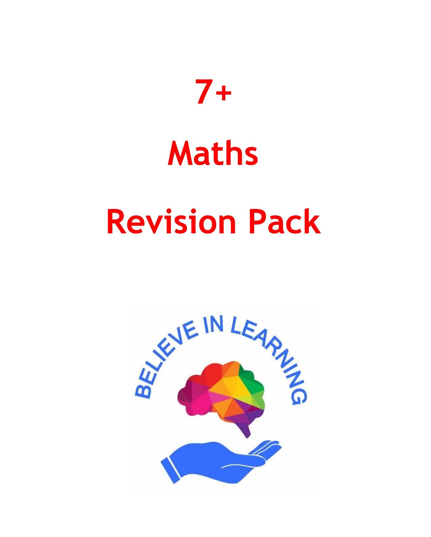 7+ Maths Revision Pack