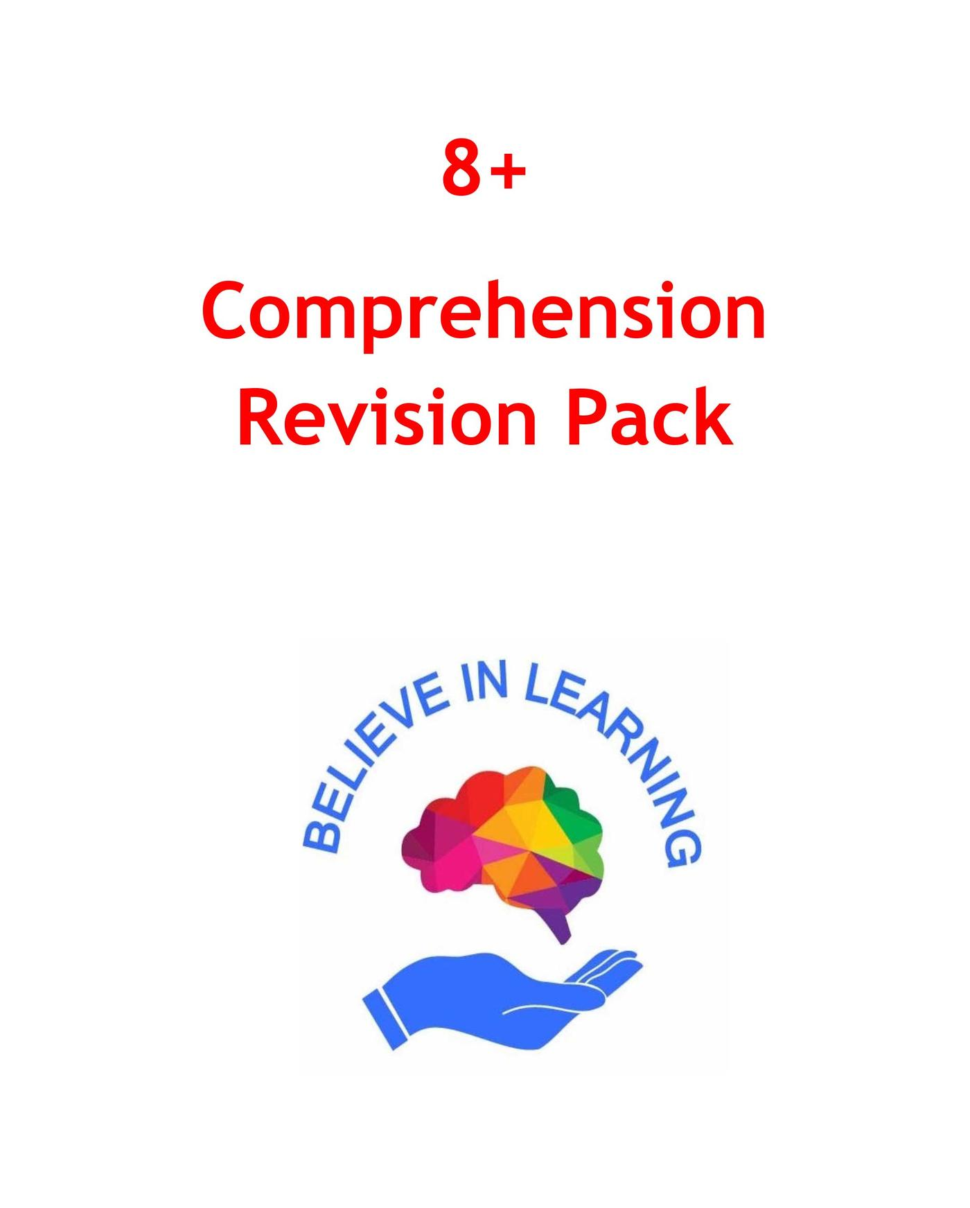 8+ Comprehension Revision Pack