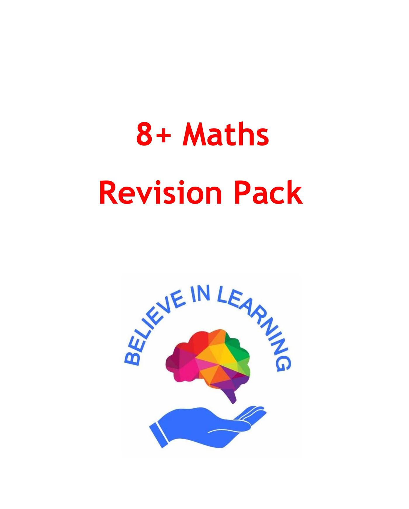 8+ Maths Revision Pack