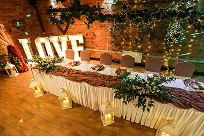 The Old Barns in Bridge Street, Rothwell Venue styling for The Old Barns in Rothwell. KTV Venue Stylists provide an array of venue styles for weddings in Northamptonshire, Leicestershire and Buckinghamshire. Get in touch for more information.