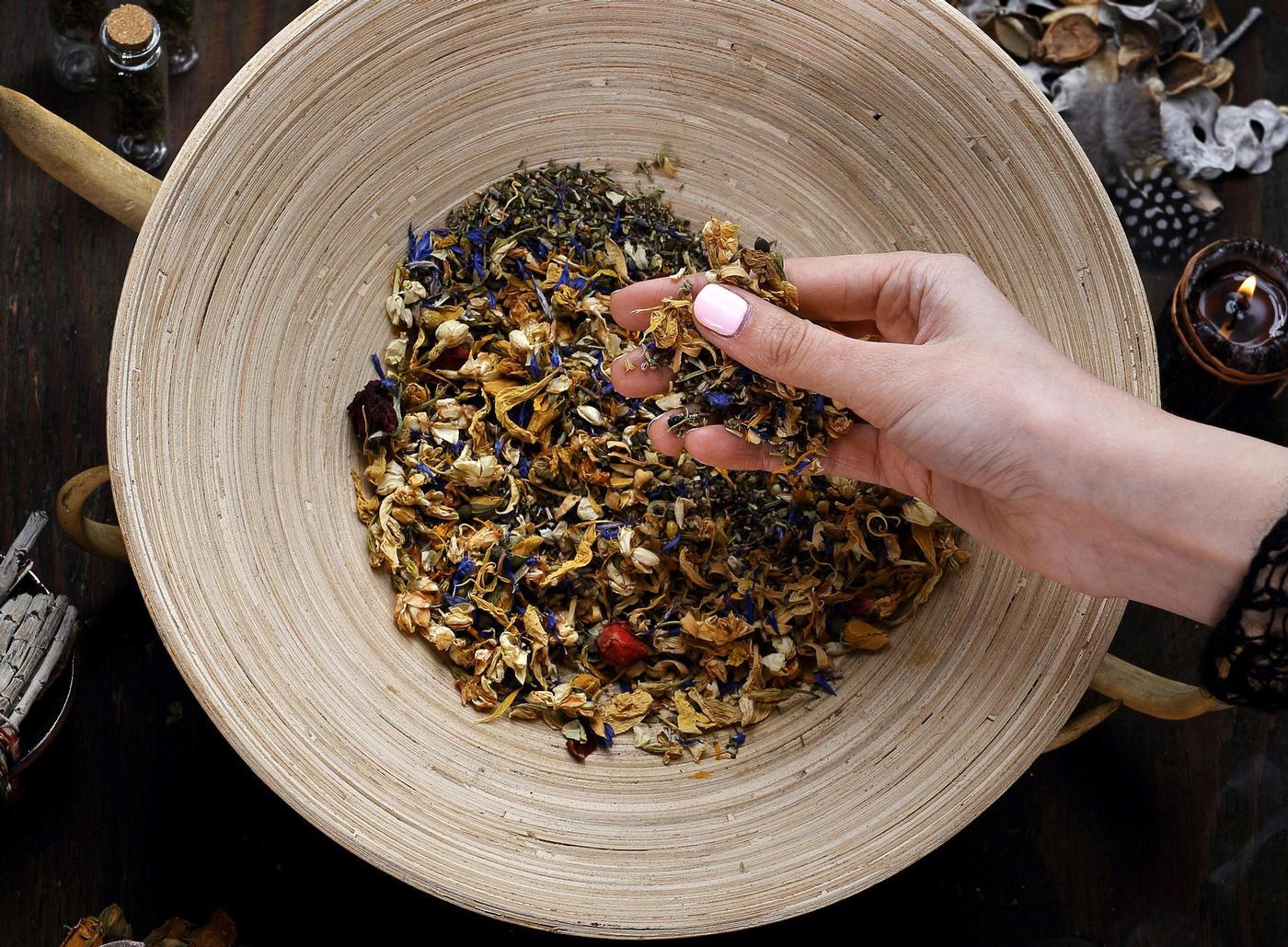 Witches Dried Herbs  N - S