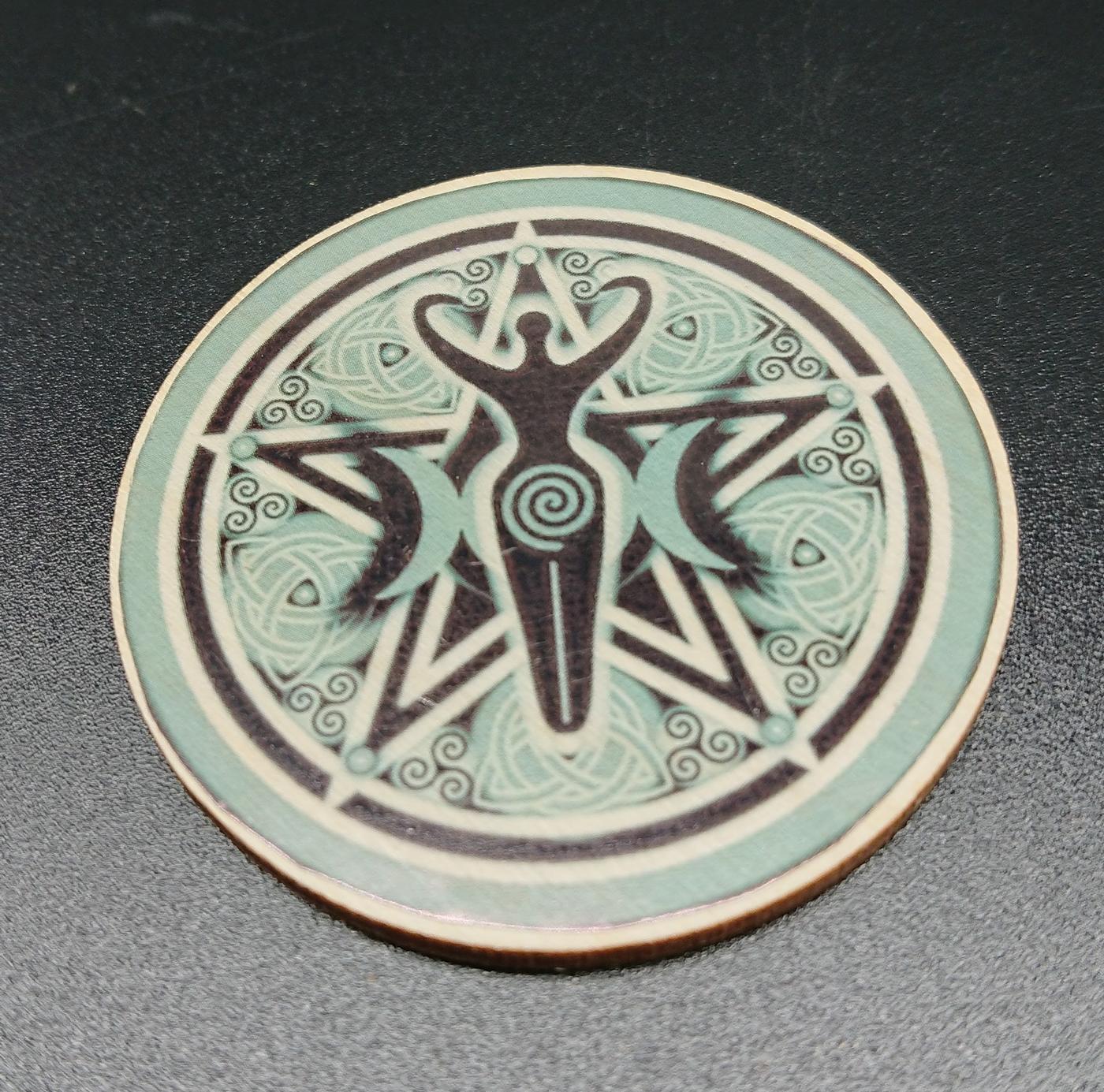 Triple Moon Goddess Altar Tile