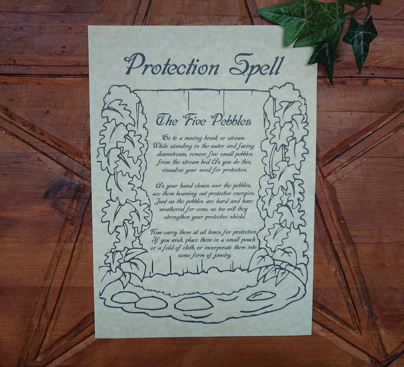 Protection Spell Poster