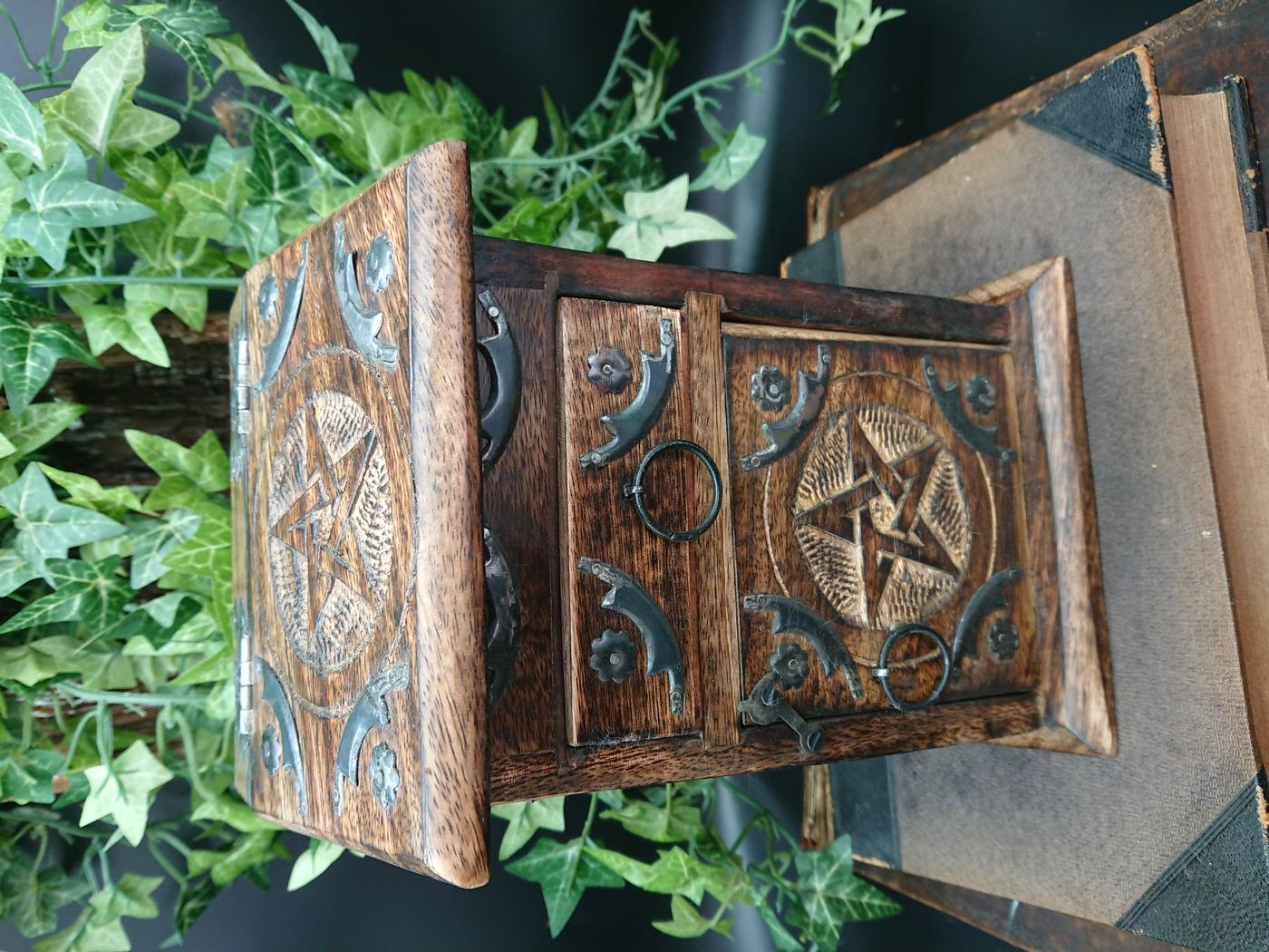 Witches Pentagram Herb Cupboard