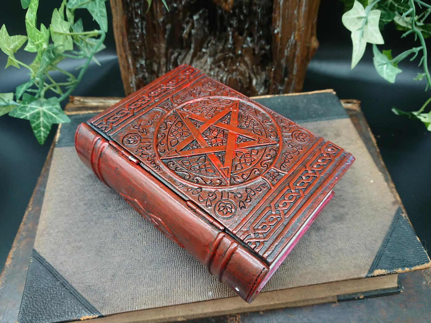 Witches Pentagram Book Box