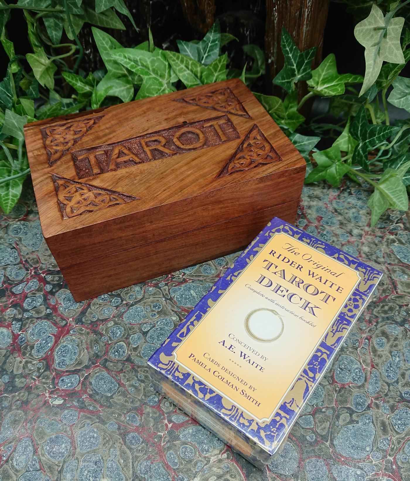 The Original Rider Waite Tarot Deck With Tarot box Set
