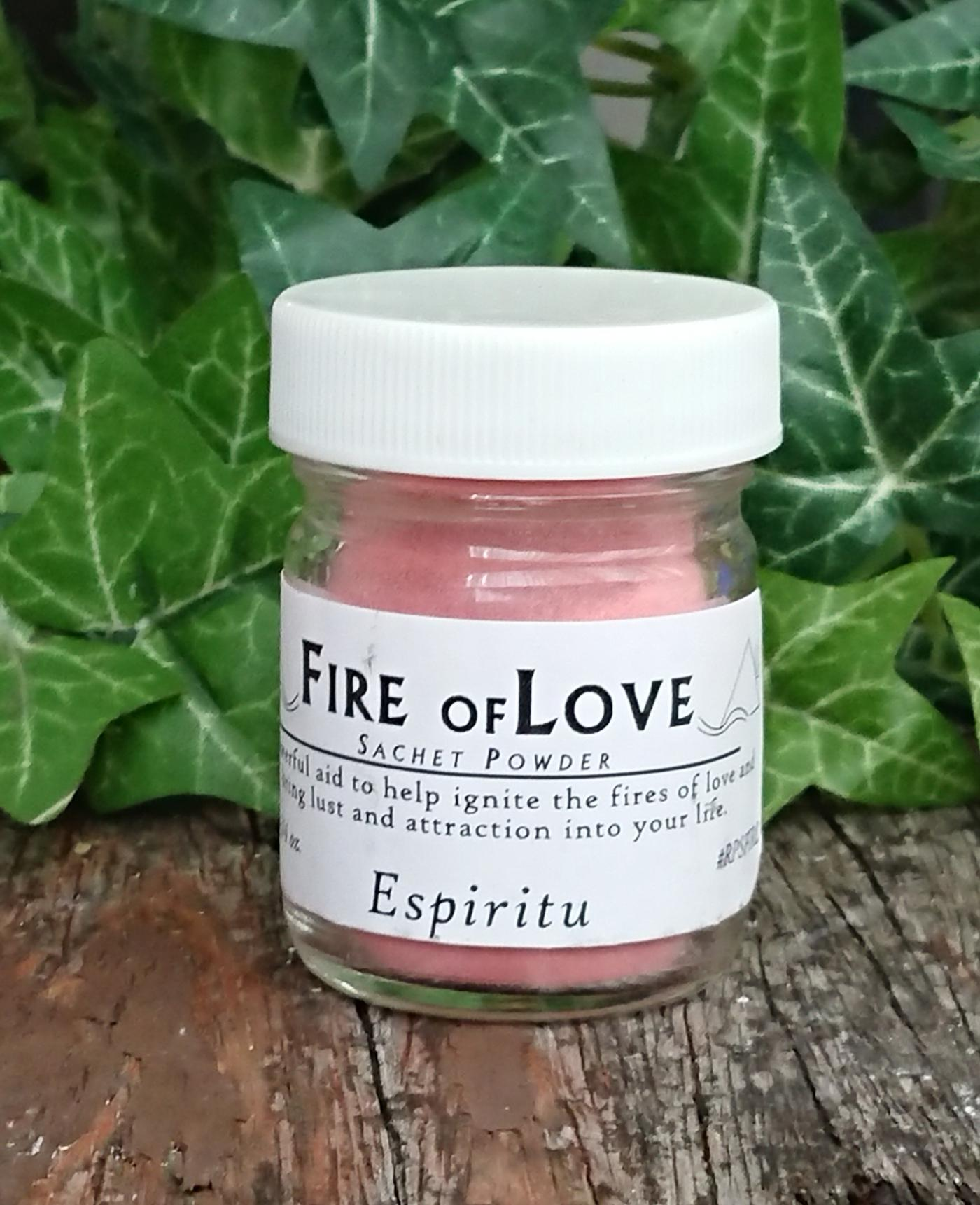 Fire of Love powder jar
