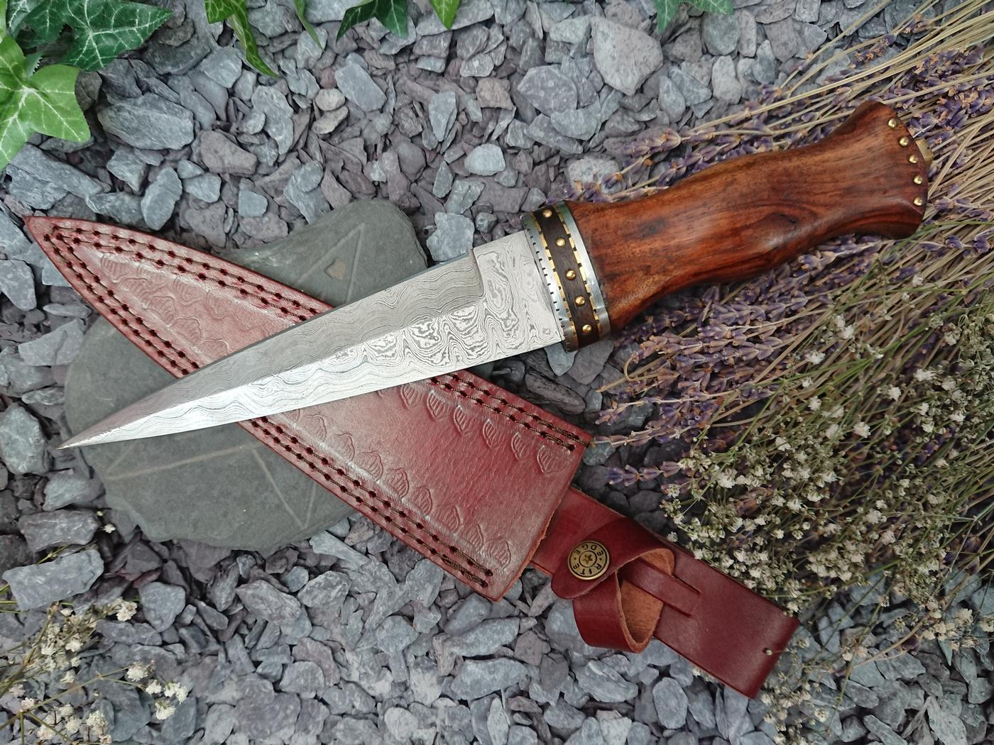 Rosewood Damascus Athame