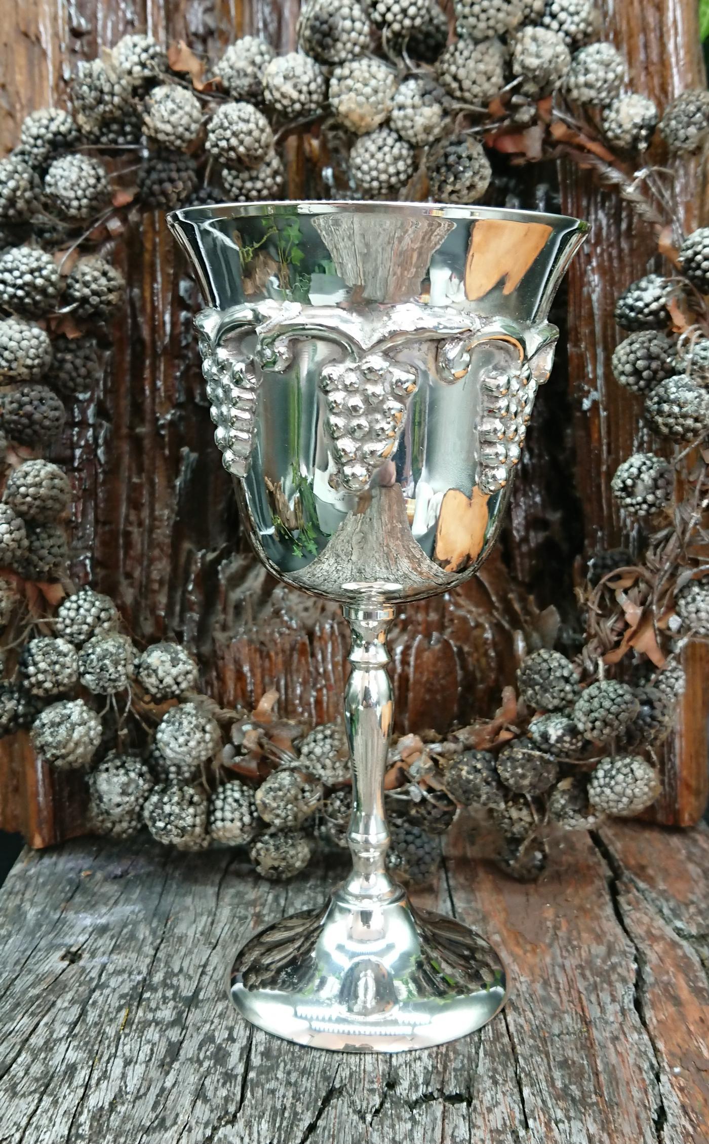Wiccan Silver Grape vine Chalice