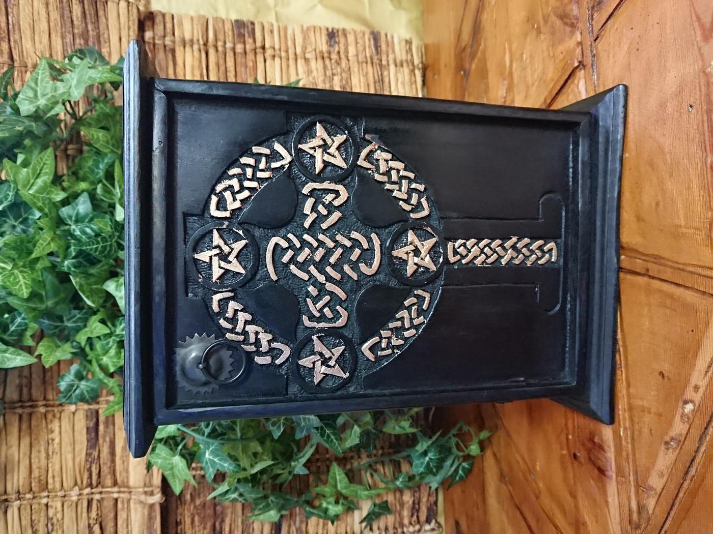 Pentagram Celtic Cross Altar Cupboard