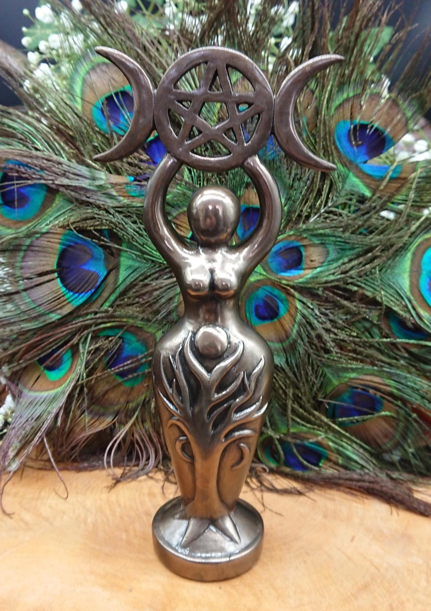 Triple Moon Goddess Idol