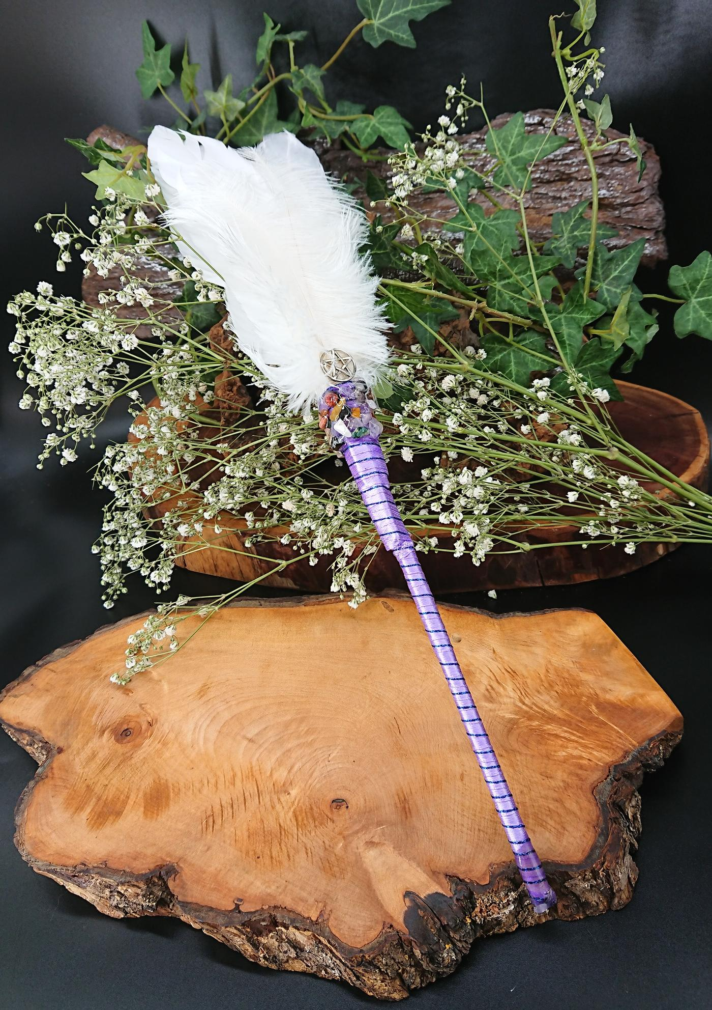 White Smudging Feather