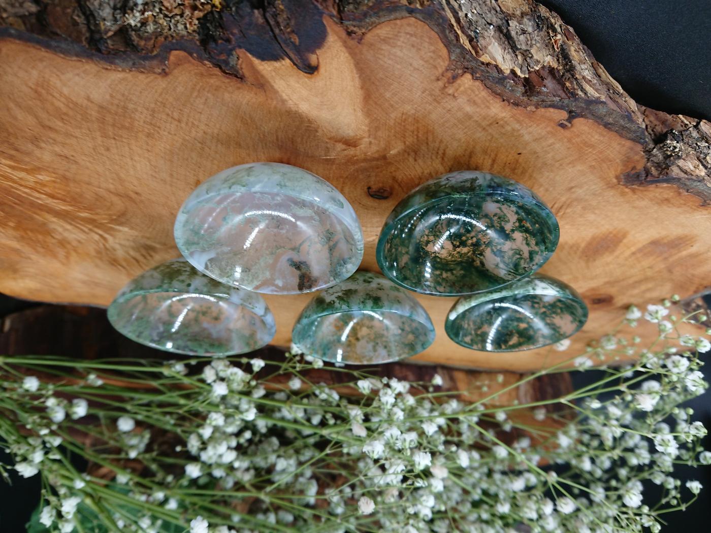 Green Moss Agate Devotional bowl