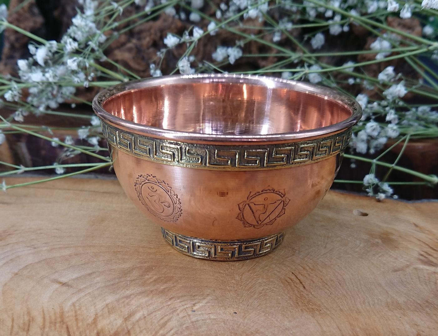 Chakra Copper Bowl