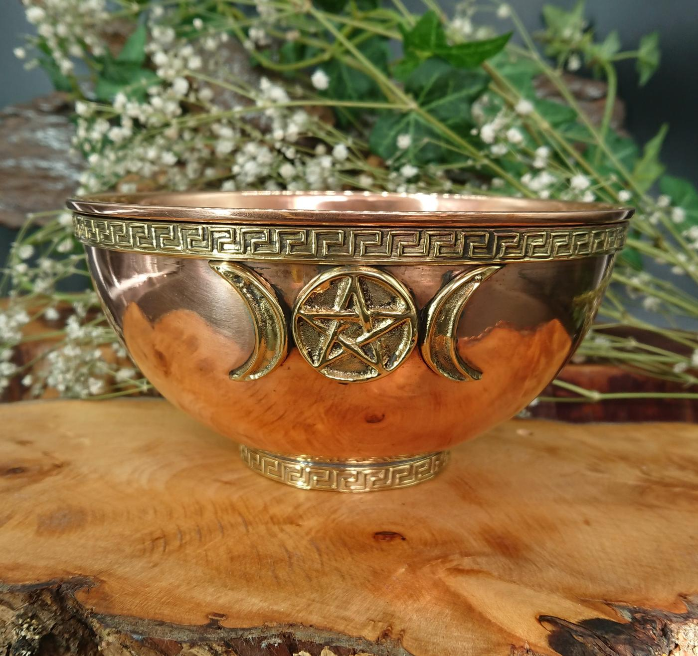 Large Triple Moon Offering Bowl