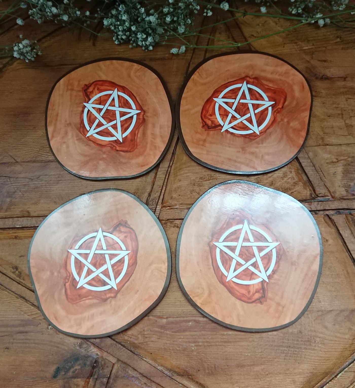 Pentagram Coasters