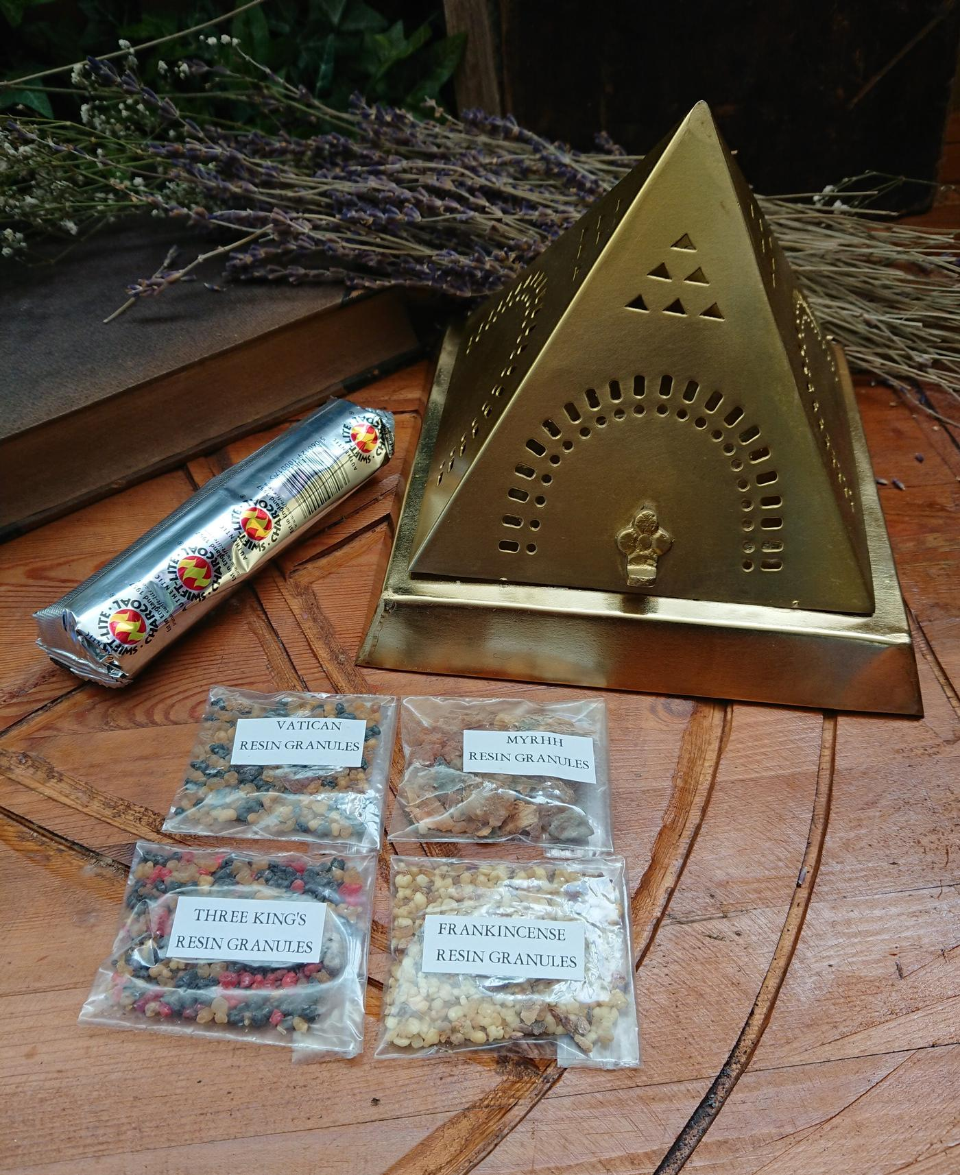 Pyramid Charcoal Resin Burner kit
