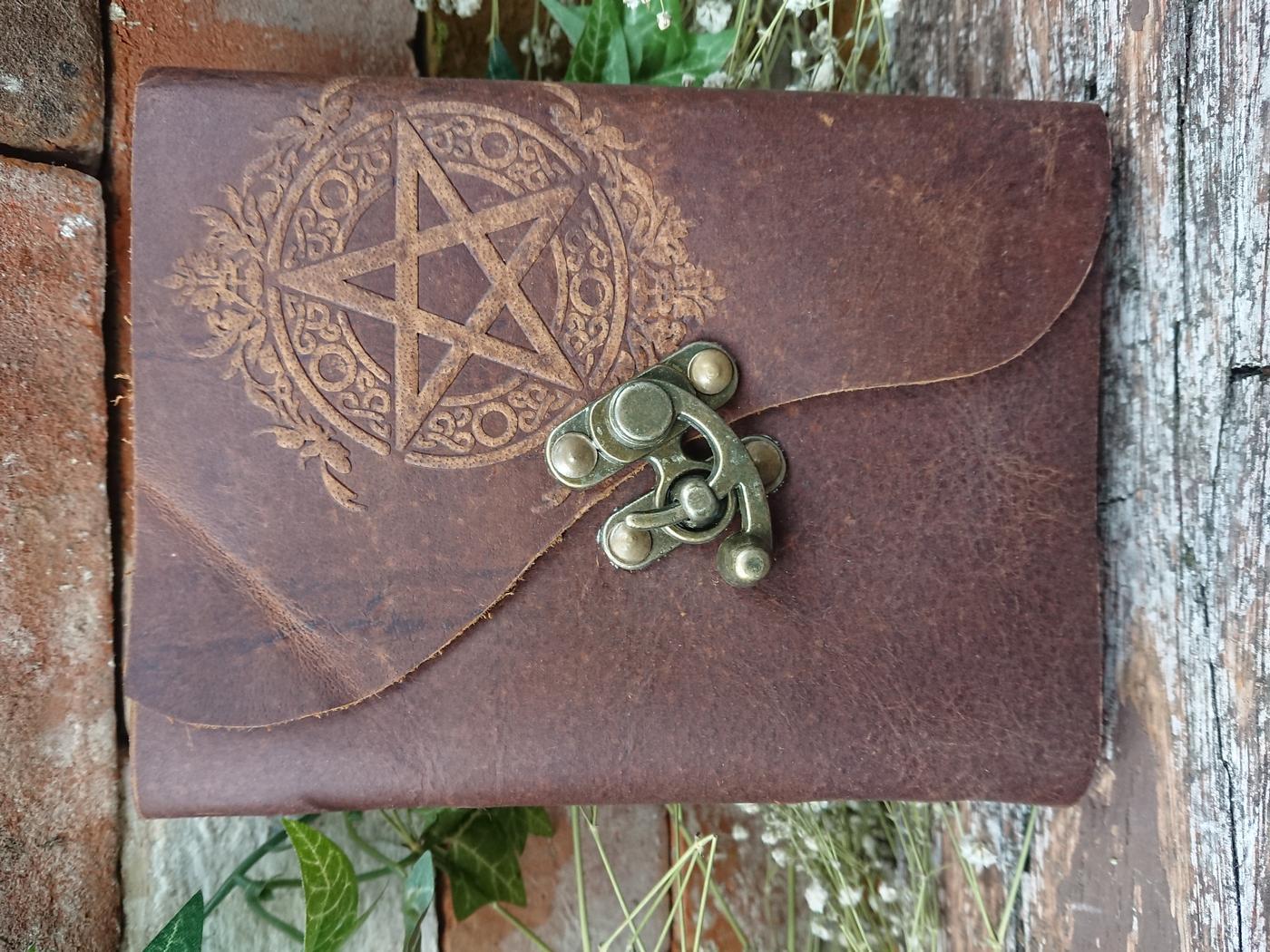 Unique Pentagram leather journal