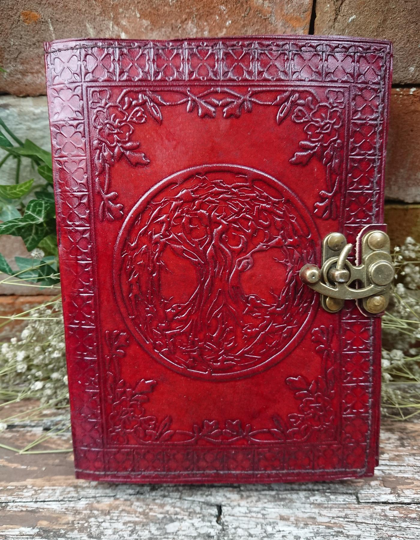 Tree of Life Leather Journal, Book of Shadows.