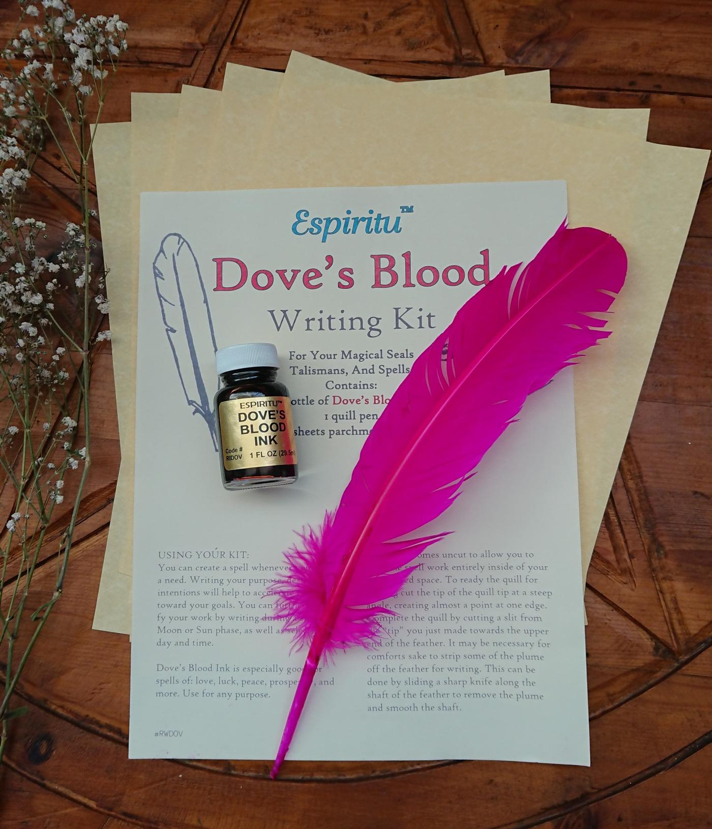 Witches Doves Blood Writing Kit