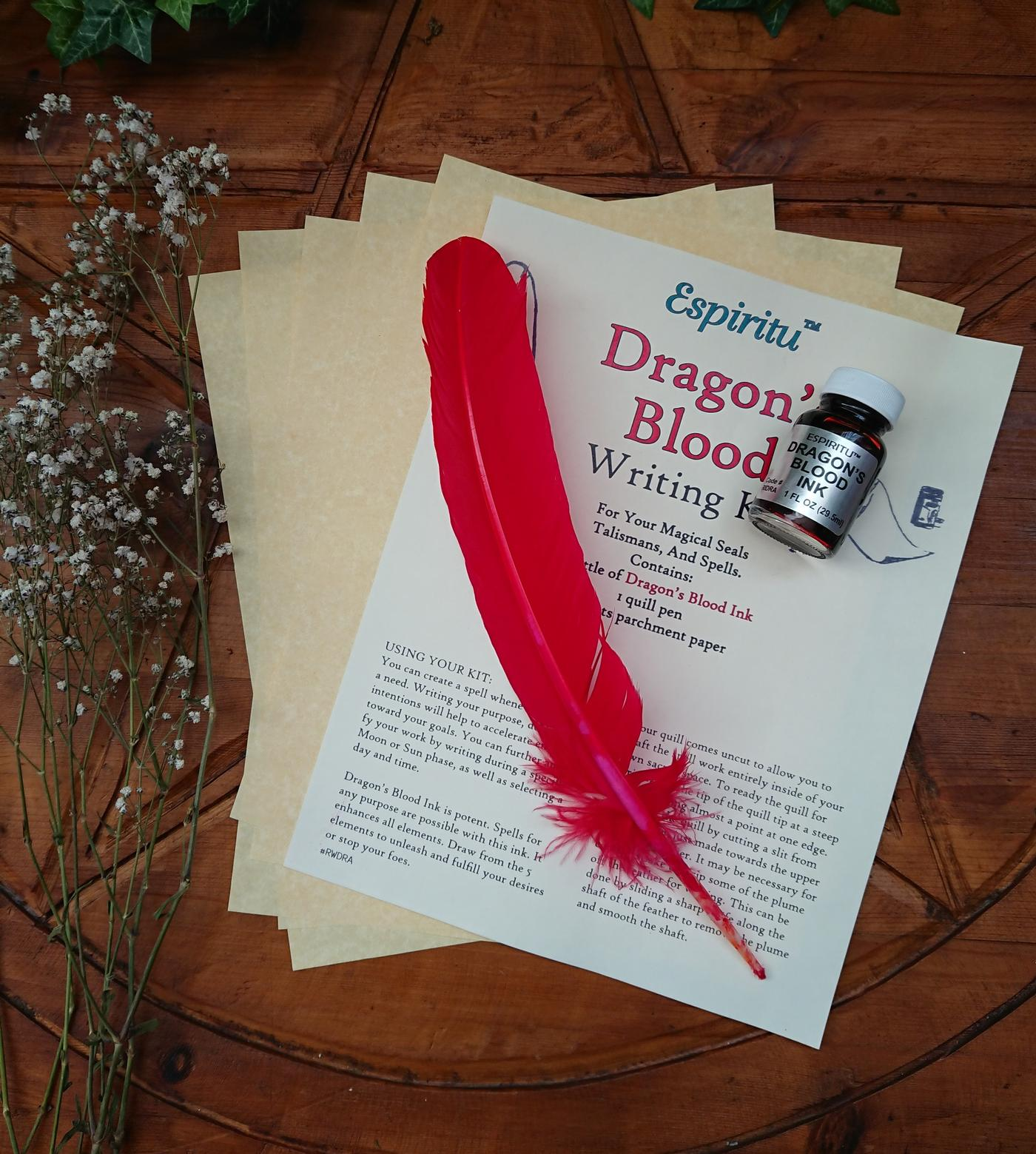 Witches Dragon's Blood Writing Kit