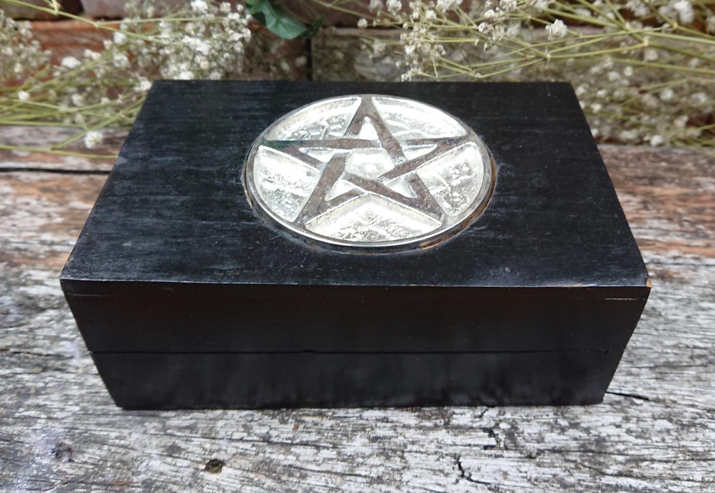 Pentagram chrome inlay box