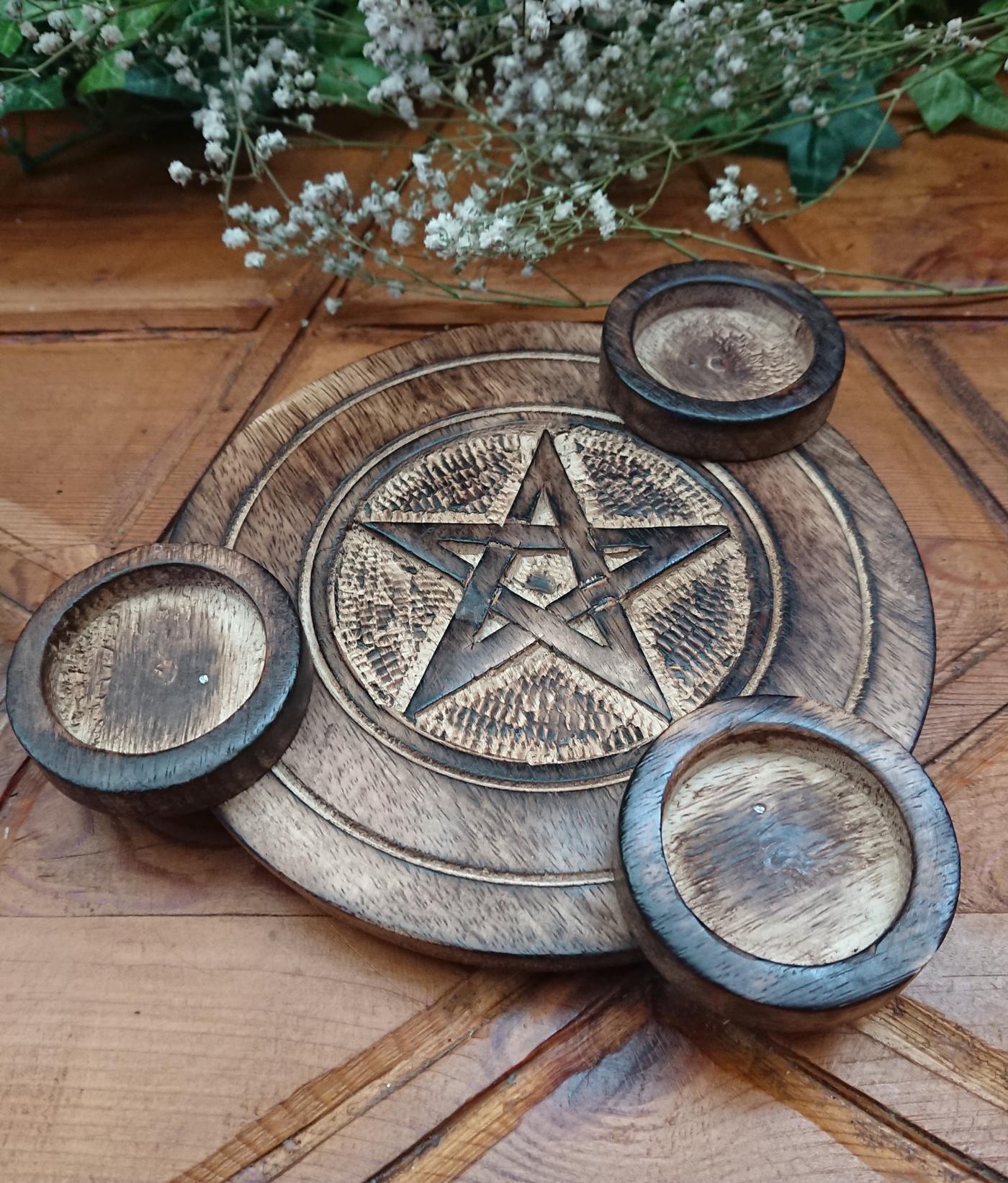 Pentagram Tea Light Hilder