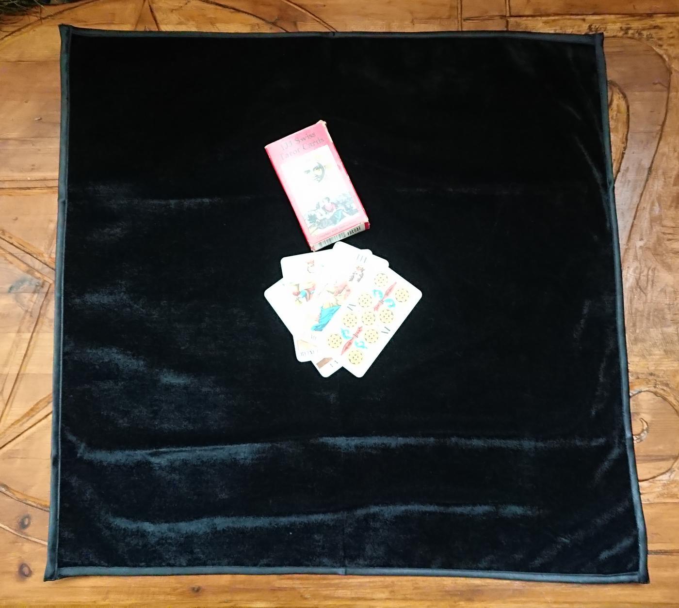 Black Velvet Tarot Card Reading Cloth