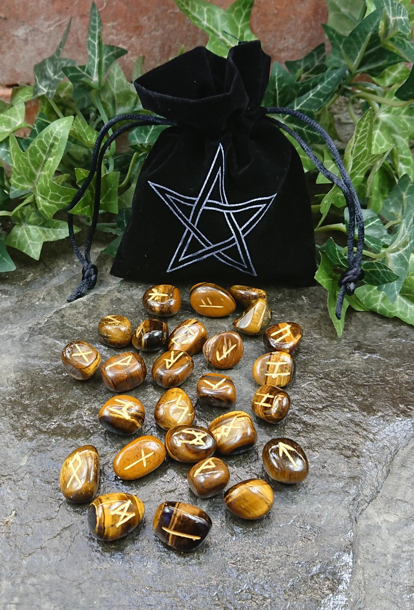 Tigers Eye Crystal Rune Set