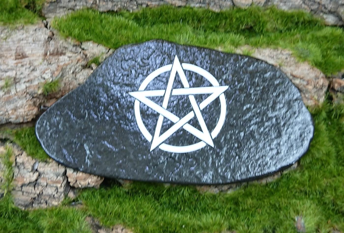 White Pentagram Altar Tile