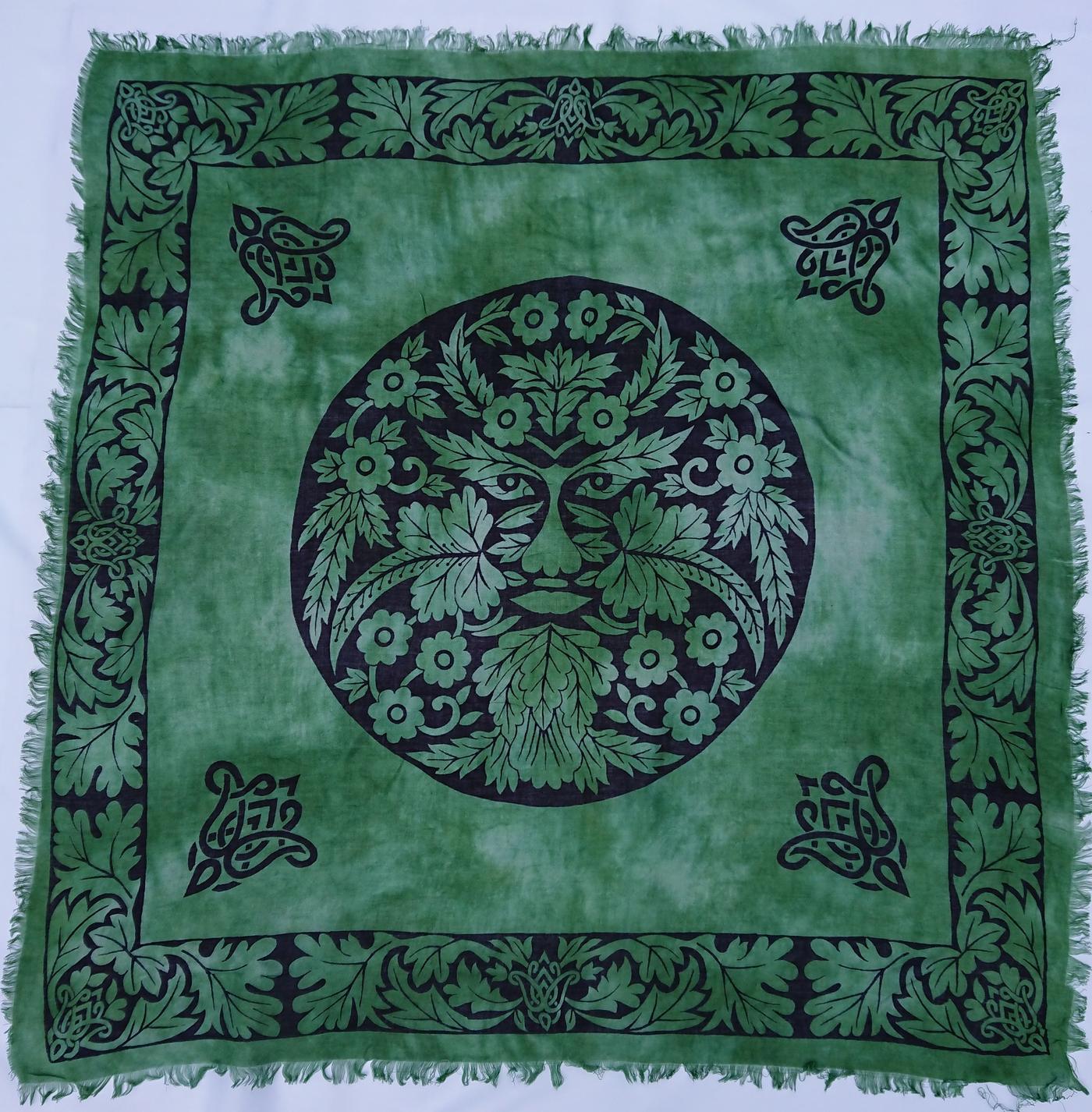 Green Man Altar Cloth    36- x 36