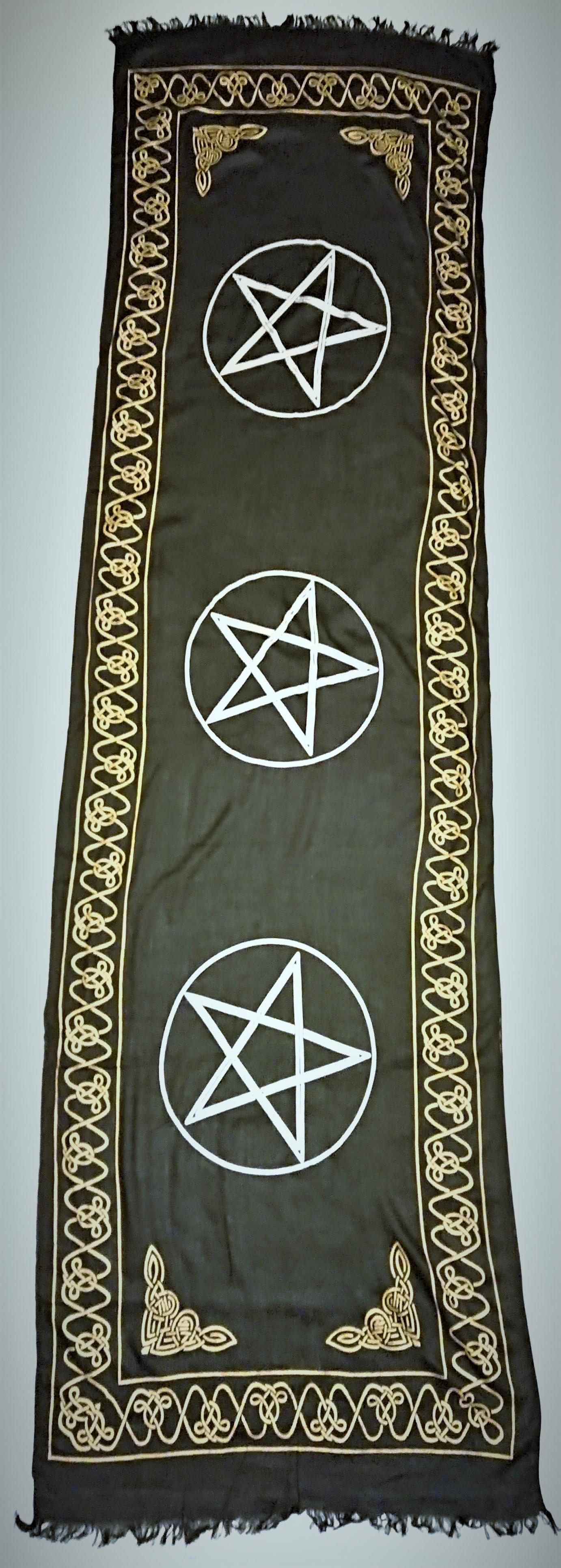 Three Pentagram Altar Cloth 21-x 72