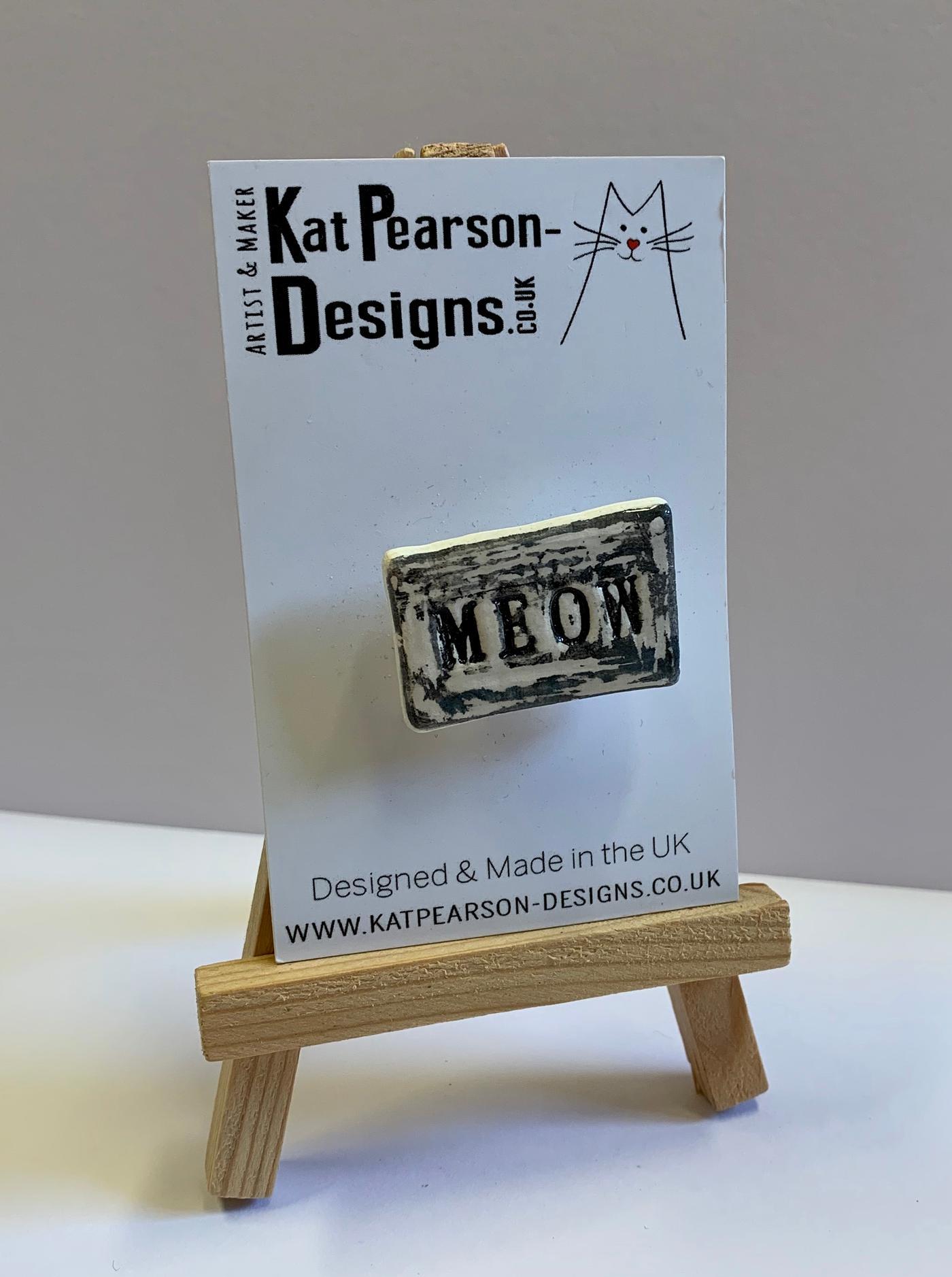 Kat Pearson Designs Cat Badge