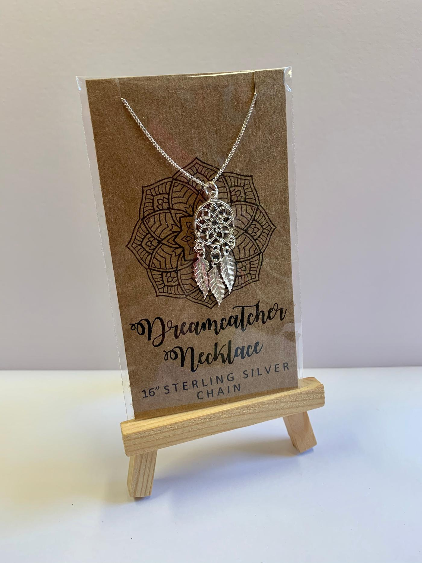Funky Sprout Dreamcatcher Necklace