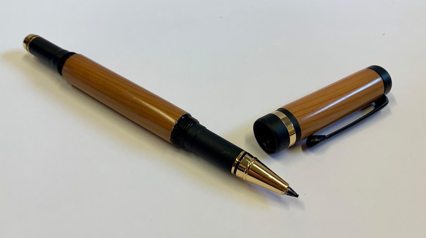 Scribblings Hand-Turned Wooden Rollerball Pen