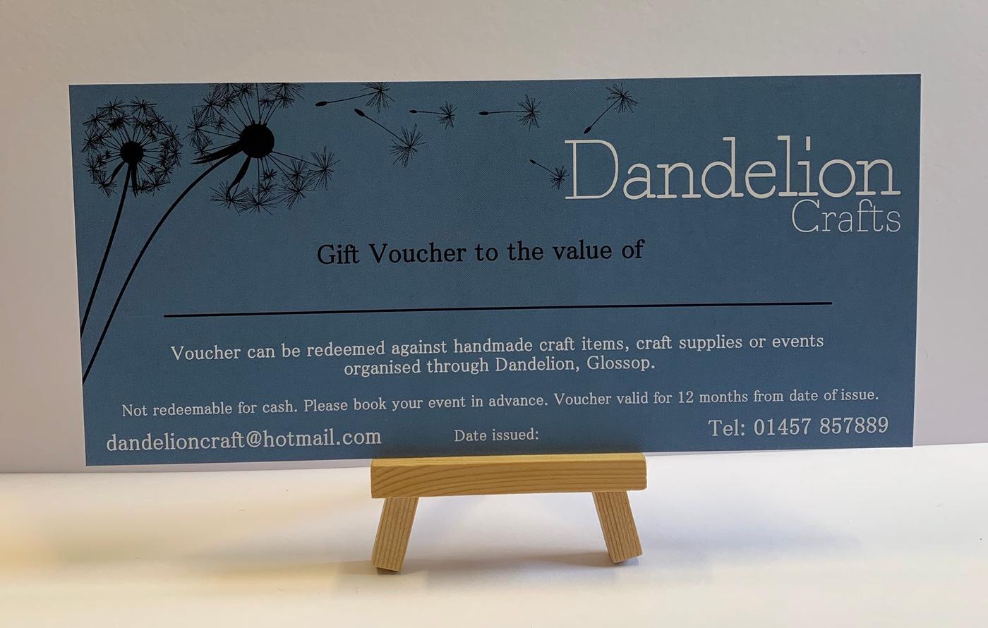 Dandelion Gift Voucher