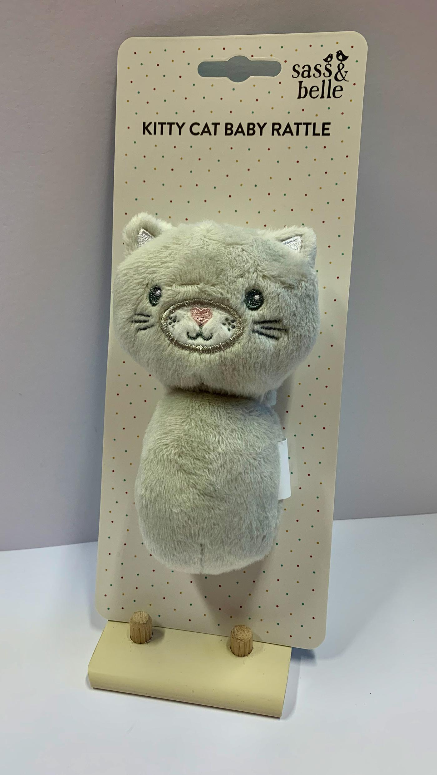 Sass and Belle Kitty Cat Baby Rattle