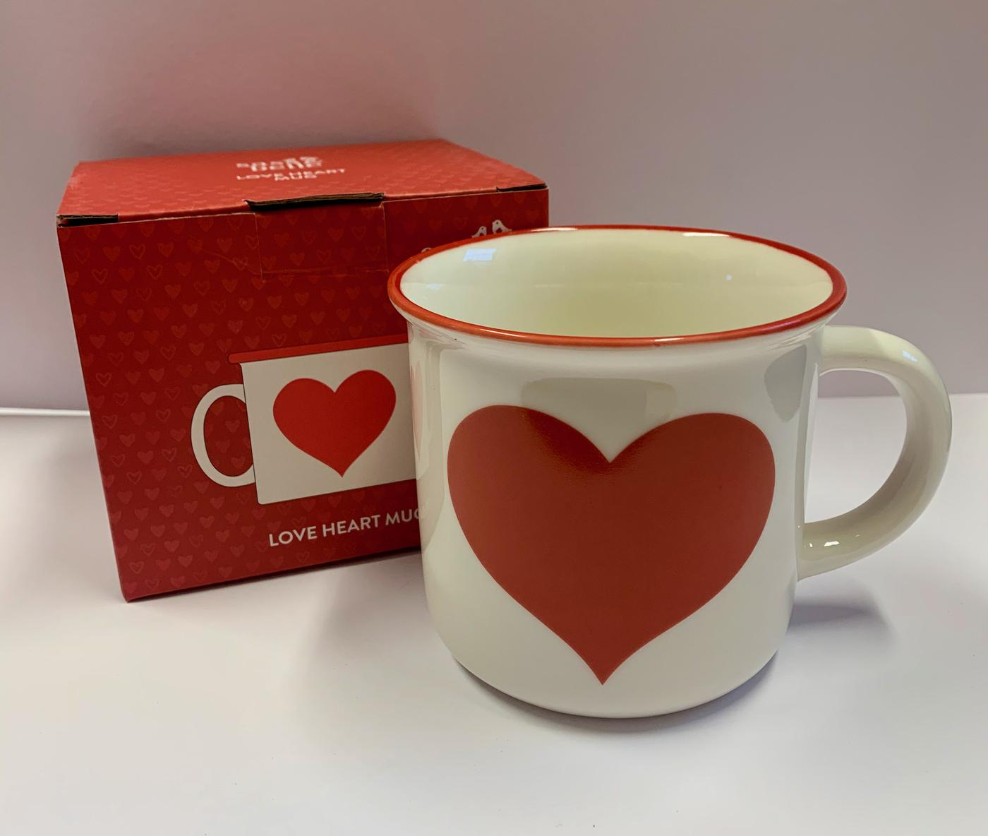 Sass - Belle Red Love Heart Mug