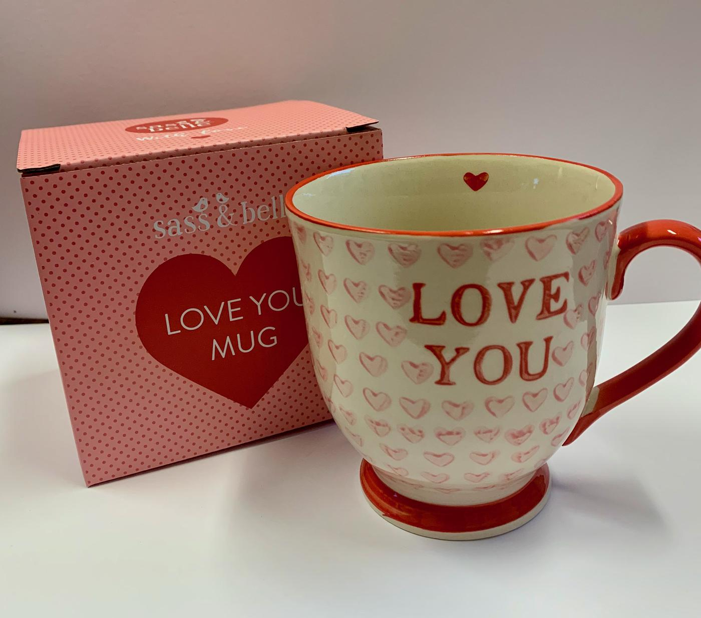 Sass - Belle Love Hearts Mug
