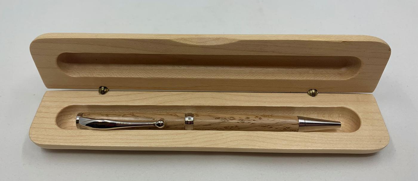 Scribblings Hand-Turned Slimline Wooden Ballpoint Pen