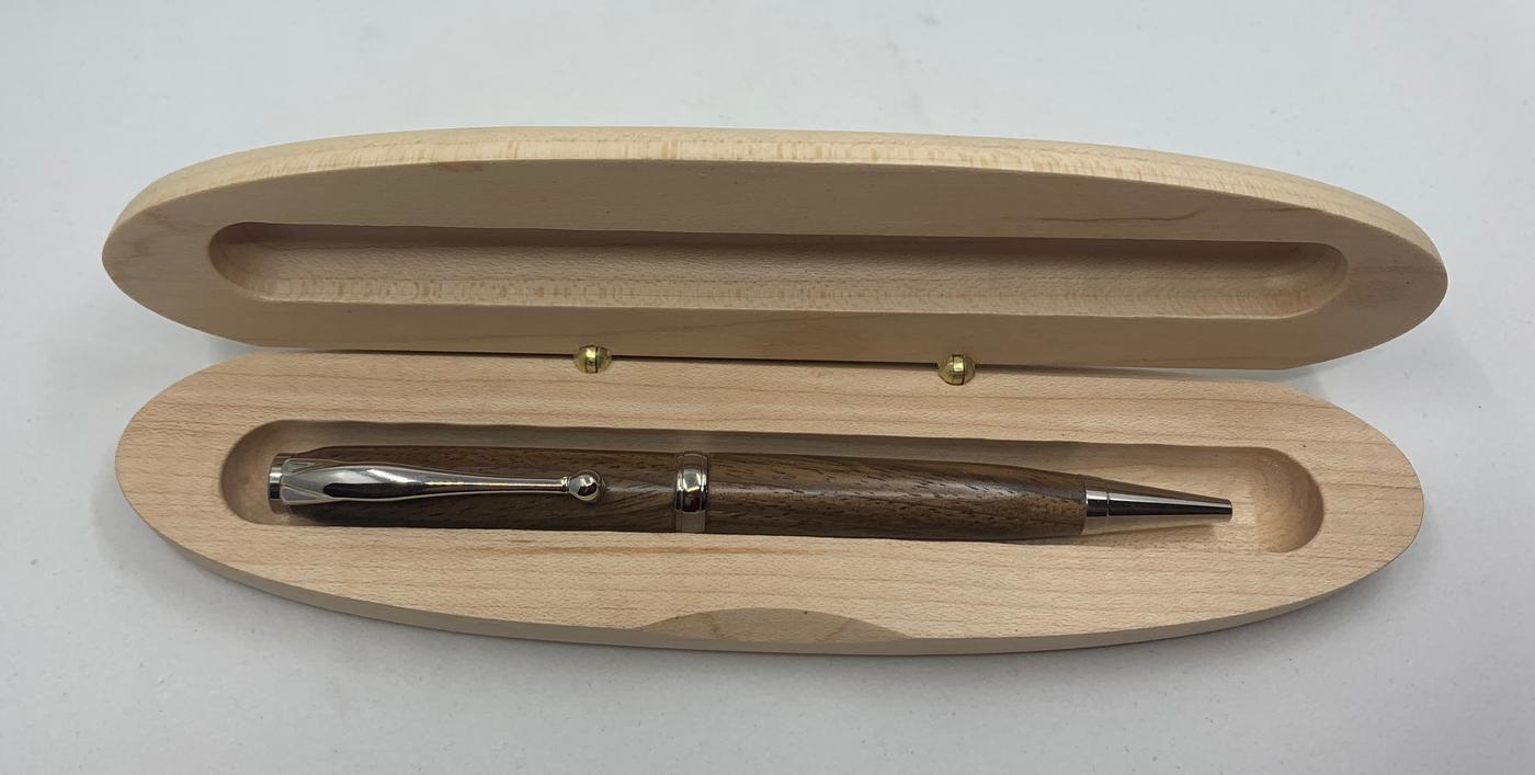 Scribblings Hand-Turned Twist Wooden Rollerball Pen