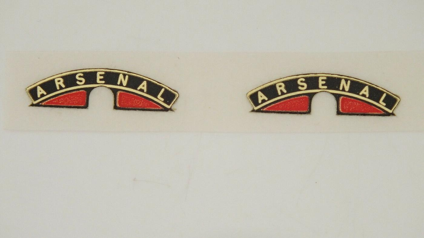 MS35 * HORNBY TRIANG B17 FOOTBALLER NAME PLATE ARSENAL    L10E
