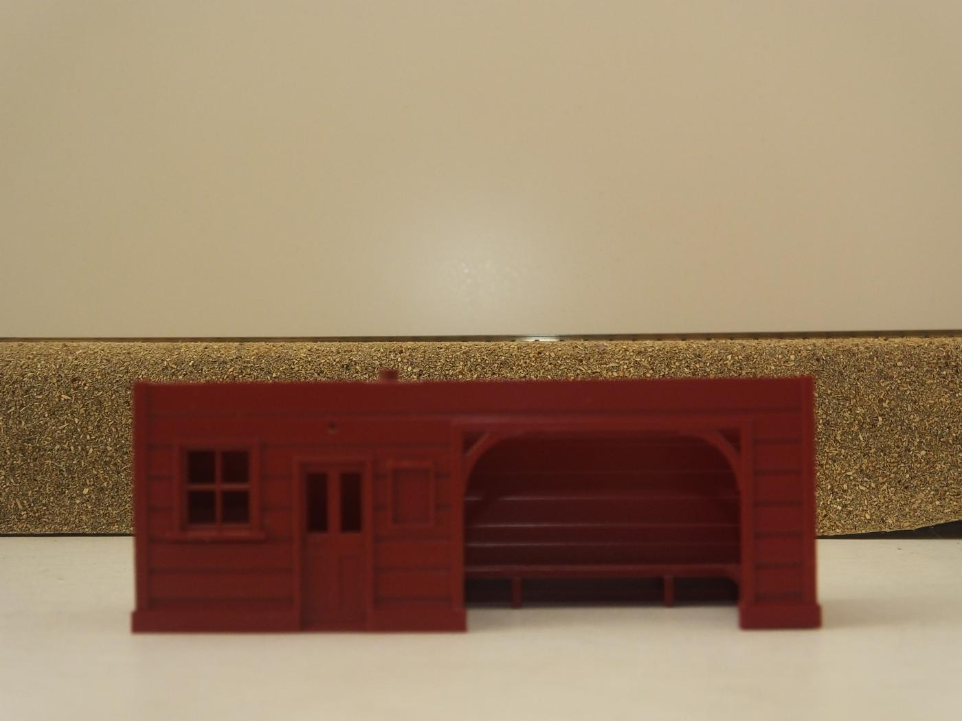 S9789RD  HORNBY PLATFORM SHELTER BODY  RED S6B