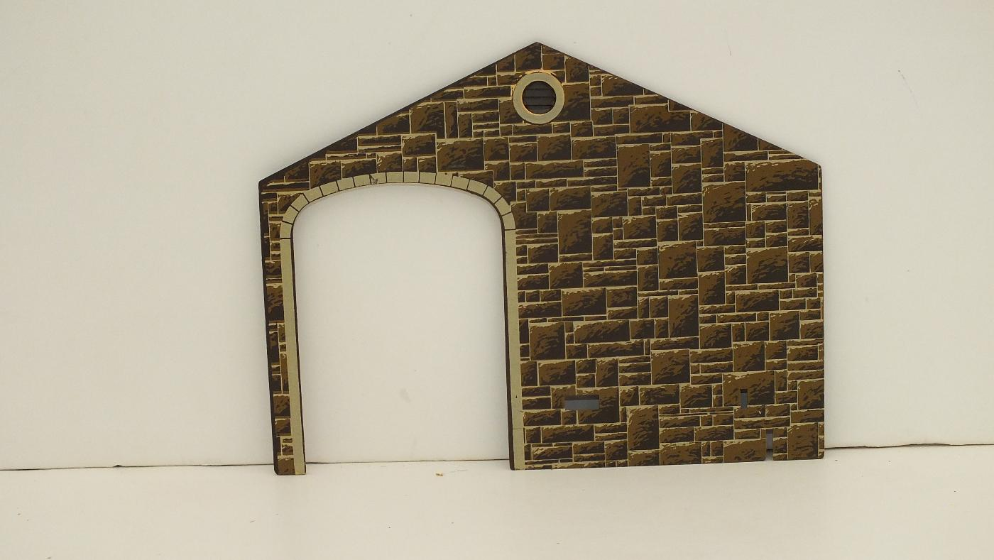 S9824S *  ENGINE SHED END WALL STONE   R4B
