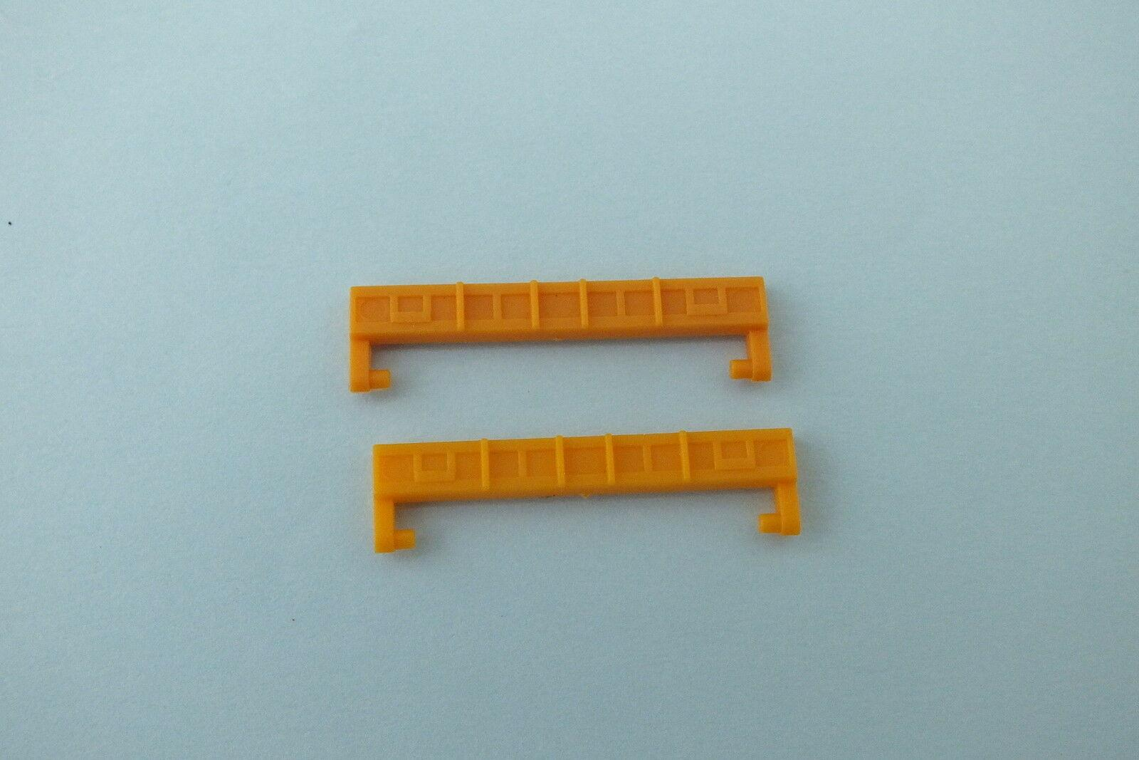 L5030YL  HORNBY TRIANG  PAIR SAA STEEL CARRIER WAGON END FLAPS YELLOW    D9B