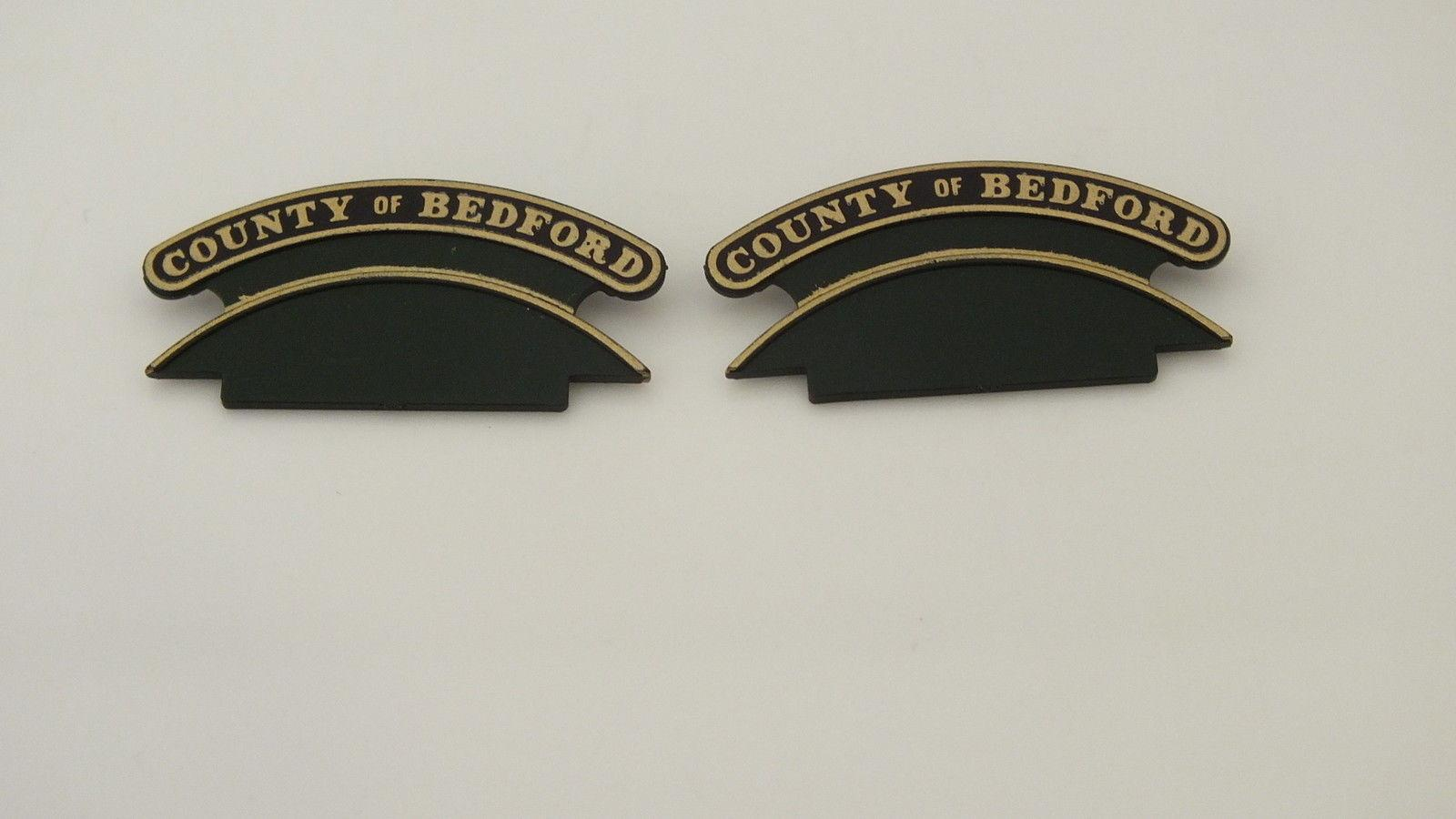 L5479 # HORNBY TRIANG NAME PLATE COUNTY OF BEDFORD     L11D